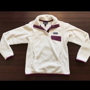 🍁🥧RARE White and Violet Patagonia Re-tool